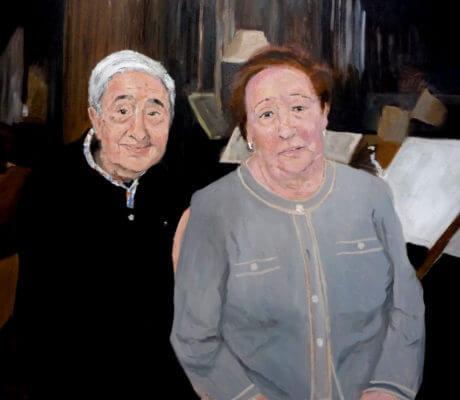 Retrato de una pareja de abuelos