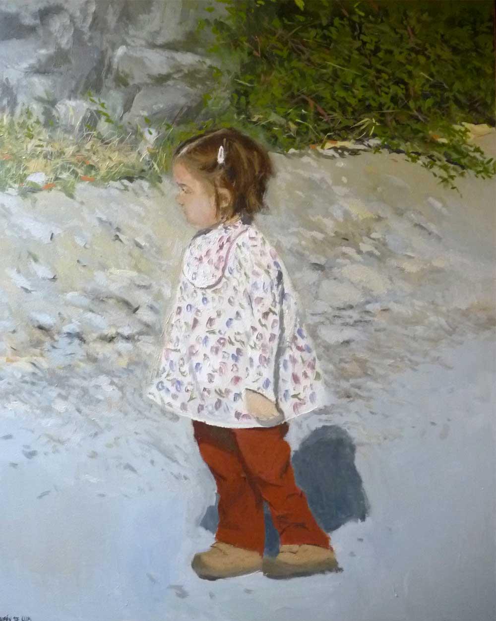 Retrato al óleo de Jimena