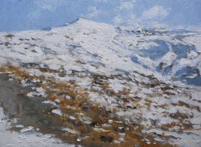 Paisaje del Pico Veleta, Sierra Nevada, Granada