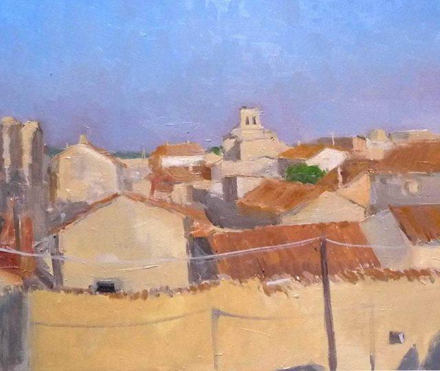 Cuadro de una vista del pueblo de Urueña