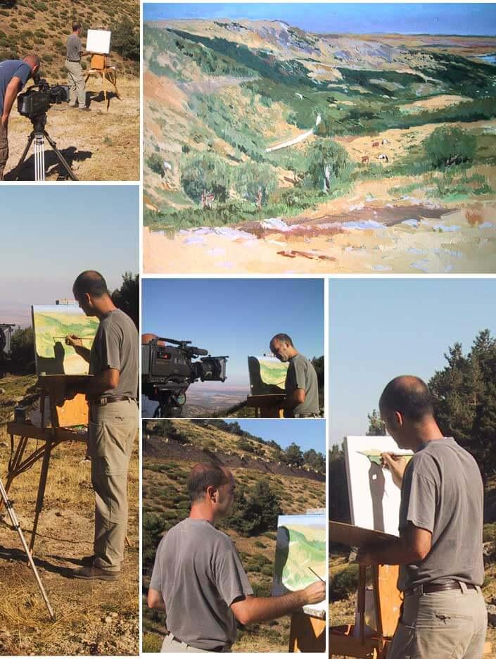 Memorias del Guadarrama | Rubén de Luis pinta un cuadro para la serie de televisión