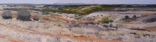 Oleo paisaje de Castilla