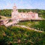 Cuadro al oleo de la iglesia de San Benito de Rabiño