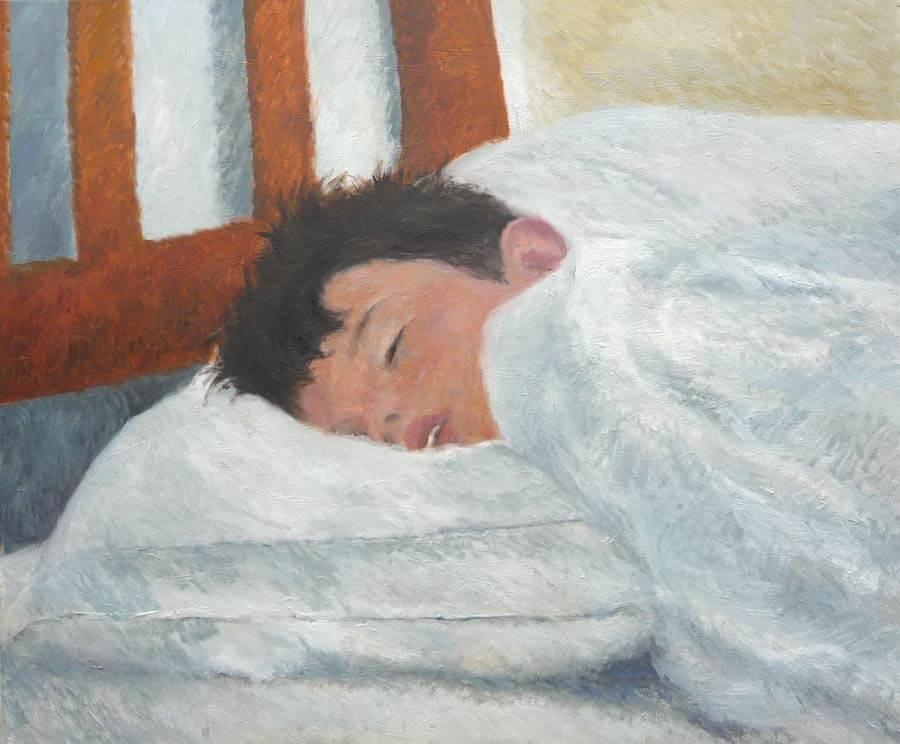 Cuadro Retrato de niño durmiendo