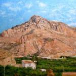 Cuadro al oleo de un paisaje del Valle de Ricote, Murcia