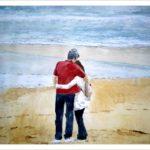 Retrato de una pareja frente al mar