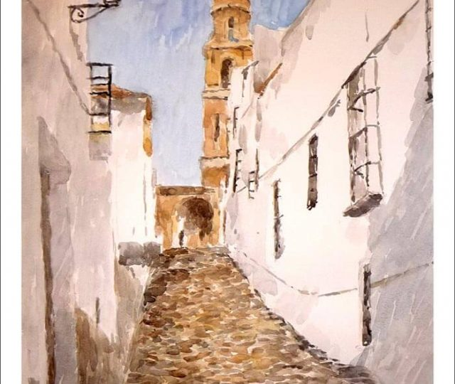 Acuarela de Estepa, Sevilla