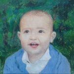 Retrato al oleo de un bebé