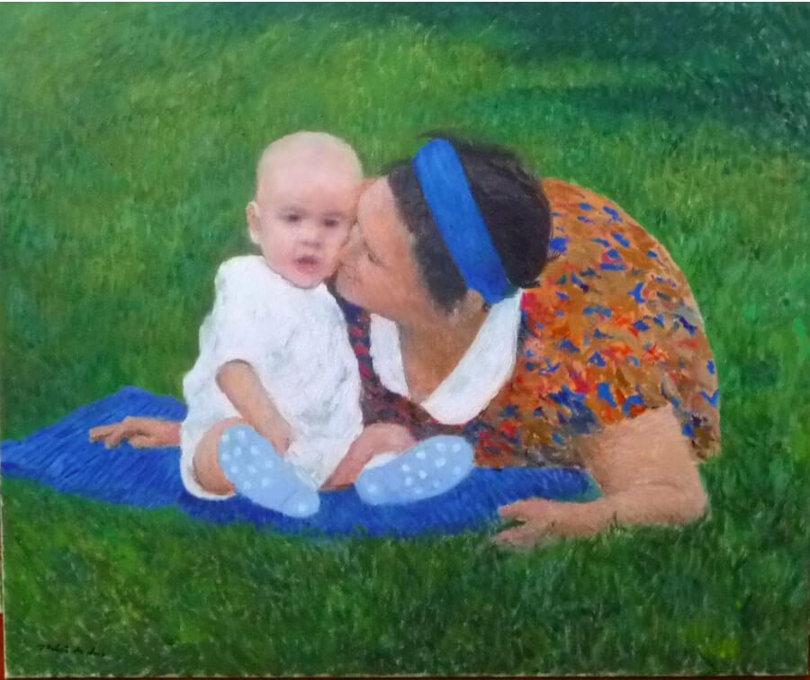 Retrato de madre e hijo