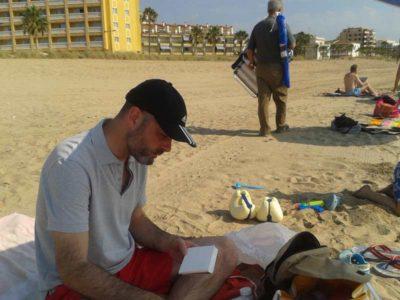 Pintando en la playa