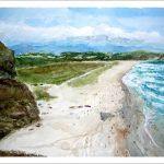 Paisaje de la playa de Xagó, Asturias.