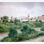 Vista de Córdoba, acuarela.