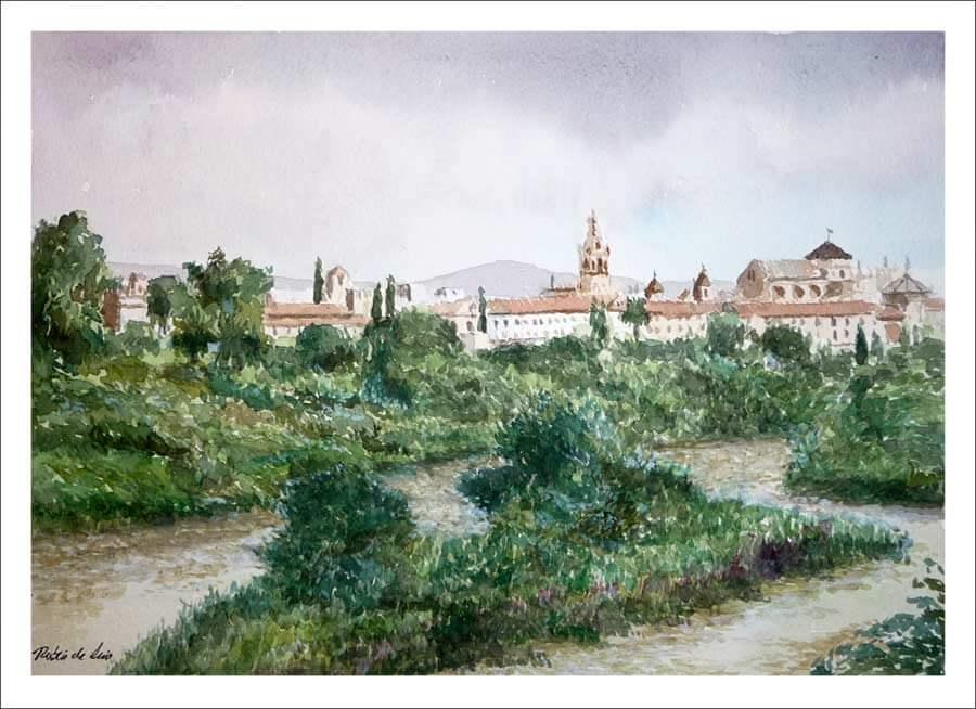 Cuadro de Córdoba en acuarela