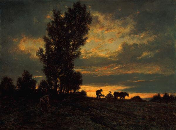 Obra de Theodore Rosseau, oleo sobre lienzo