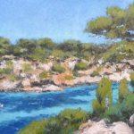 Cala Pì, Mallorca, cuadro al oleo
