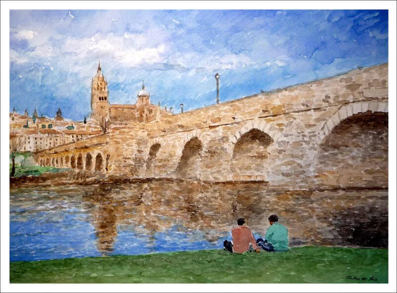 Acuarela de Salamanca