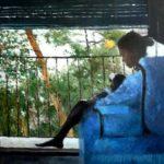 Retrato al óleo de una mujer con un niño