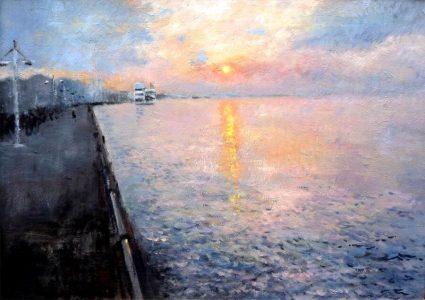 Paseo de Pereda al amanecer