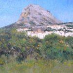 Paisaje de Jávea y el monte Montgó