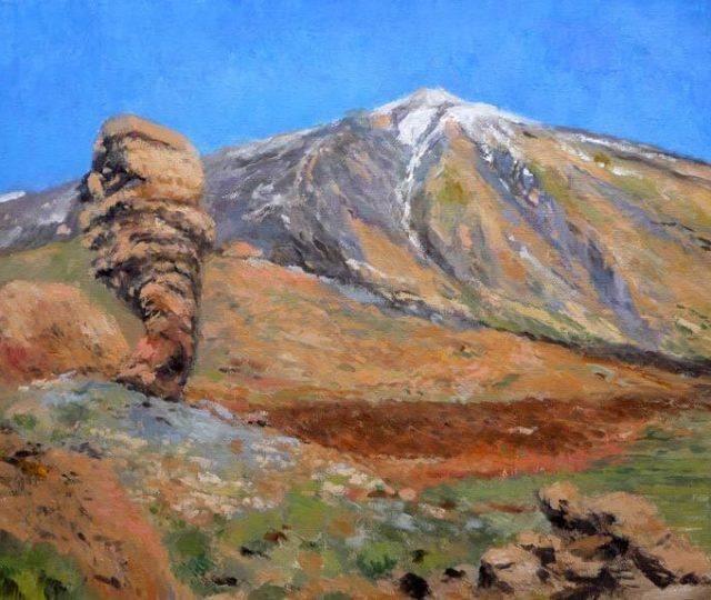 Cuadro al oleo del Teide