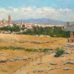 Paisaje de una vista de Segovia.