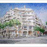 Cuadro de la casa Pedrera de Antonio Gaudí, Barcelona