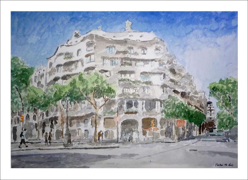 Cuadro de la Casa Pedrera de Gaudí, Barcelona
