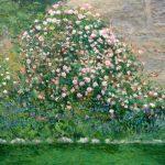 El rosal, cuadro al oleo