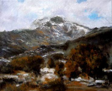 Paisaje de invierno en la Sierra de Guadarrama, Madrid