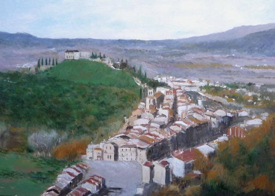 Paisaje de Hostalrich, Gerona