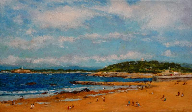 Cuadro de la playa del Sardinero, Santander