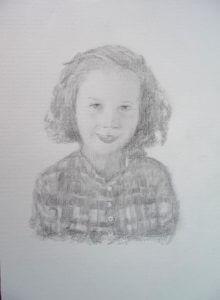 Retrato de Paula a lápiz