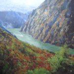 Paisaje del cañon del río Sil en Lugo