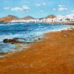 La playa de las Canteras, Las Palmas.