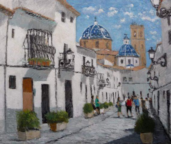 Cuadro al oleo de Altea, Alicante