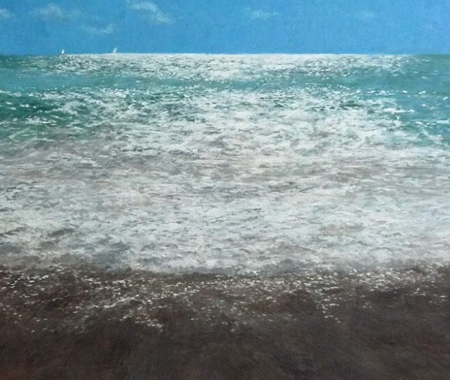 Marina del Mar Mediterráneo, oleo sobre lienzo