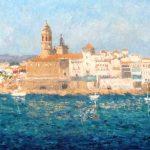 Cuadro al óleo de un paisaje de Sitges