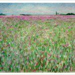 Cuadro de un paisaje de flores