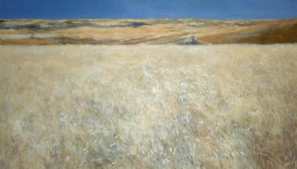 Cuadro al oleo de un paisaje de la Tierra del Pan en Zamora