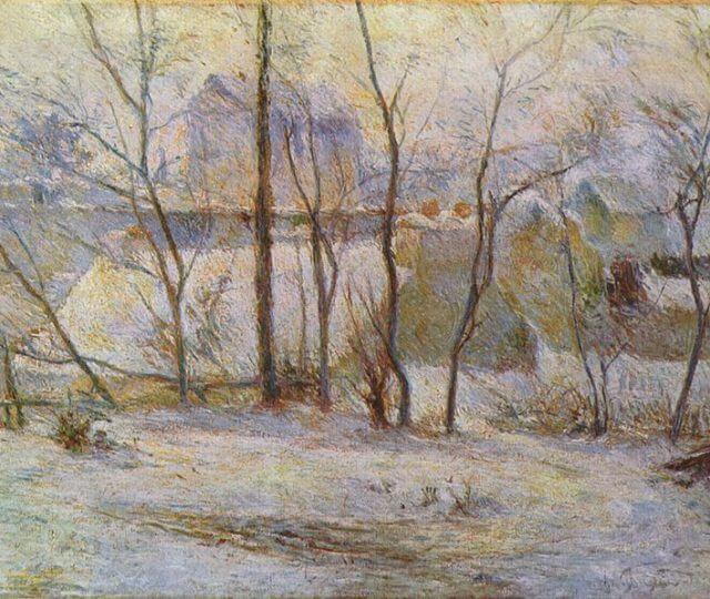"""Paisaje de invierno"" de Paul Gauguin"