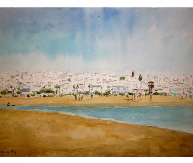 Cuadro de la playa de Conil, Cádiz