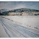 Paisaje nevado de Villafranca Montes de Oca, Burgos