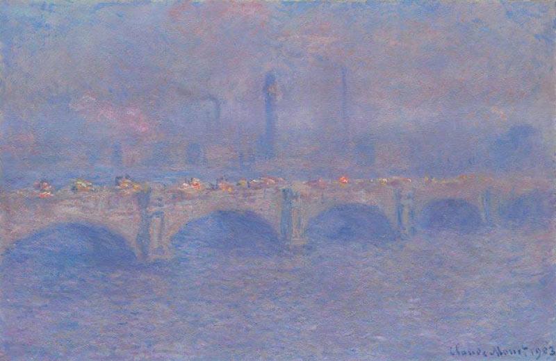 Cuadro al oleo de Claude Monet