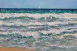 Marina del Mar Mediterráneo pintada al oleo