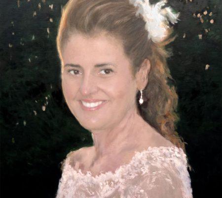 Retrato de una novia el día de la boda