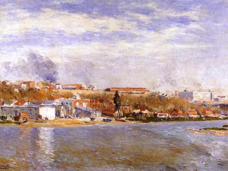 Ribera del río Manzanares, Aureliano de Beruete, 1908.