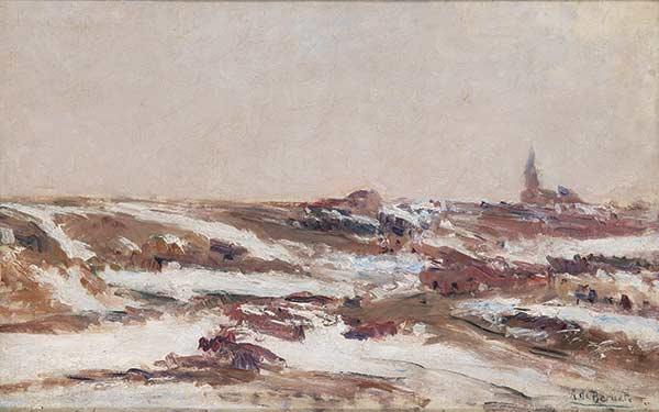 Paisaje de Castilla nevado. Aureliano de Beruete