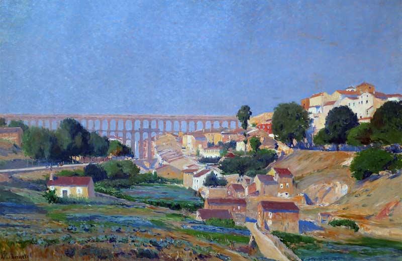 Segovia desde el camino de Boceguillas. Aureliano de Beruete.