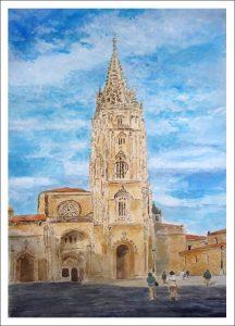 Cuadro de la catedral de Oviedo