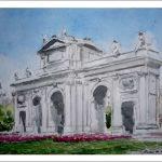 Cuadro en acuarela de la Puerta de Alcalá